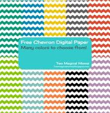 chevron digital paper in 12 colors printable party free