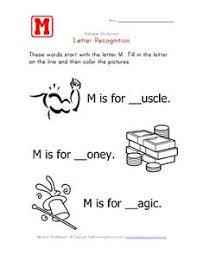letter recognition the letter m fill in the blank pre k