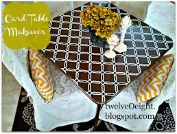 how big is a card table diy card table makeover