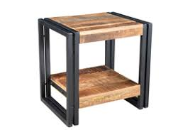 Reclaimed Wood Side Table Industrial Reclaimed Wood And Iron 1 Door Bedside Table Timbergirl