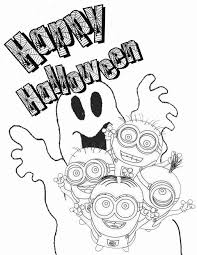 minion ghost coloring u0026 coloring pages