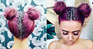 sparkly hair glitter roots hair trend is the instagram worthy look