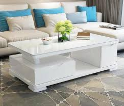 table center white glossy w tempered glass center table doozy furniture