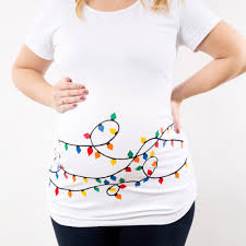 tshirt halloween christmas maternity shirt christmas lights maternity tshirt