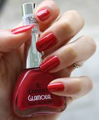 classics glamour nail lacquer u2013 red the fingertip factory