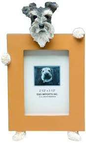 amazon com schnauzer uncropped picture frame holds your
