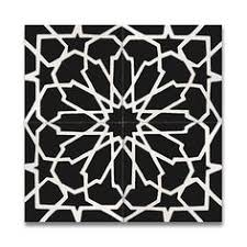 Floor And Tile Decor Outlet Medina Black And White Handmade Moroccan 8 X 8 Inch Cement And