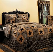 Home Decor Stars Vintage Star Black Quilted Bedding Set By India Home Fashions The