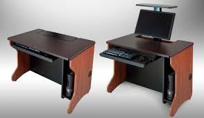 Recessed Monitor Computer Desk Monitor Lift Computer Desks Flipitlift Offered By Smartdesks