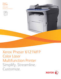 download free pdf for xerox phaser 6121mfp multifunction printer