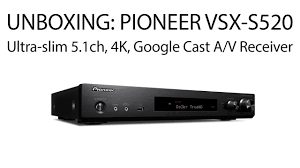 slim home theater receiver avgearshop unboxing pioneer vsx s520 ultra slim 5 1 channel