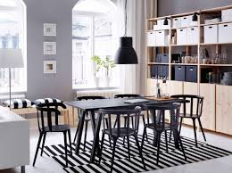 Contemporary White Dining Room Sets - ikea dining tables sleek wooden dining chairs white finished