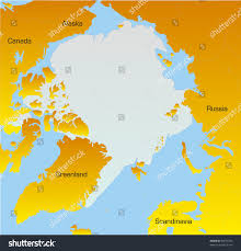 North Pole Map Abstract Vector Color Map North Pole Stock Vector 35071063