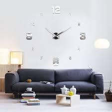 Wanduhren Wohnzimmer Beleuchtung Xxl3d Riesige 3d Wanduhr Vinyl Diy ø 130cm Große Xxl Spiegel Uhr V