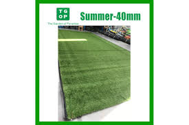 Outdoor Turf Rug by 40mm 4 Tone Artificial Grass Synthetic Turf Lawn Carpet 2m Width