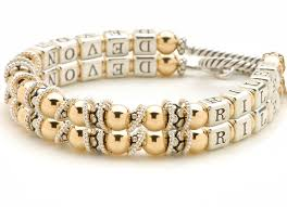 mothers bracelets gold and silver name bracelet strand mothers bracelet
