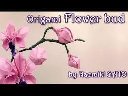 origami orchid tutorial origami flower bud by naomiki sato yakomoga origami tutorial youtube