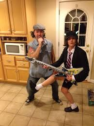 Unconventional Halloween Costumes Halloween Couples Costume Ac Dc Brian Johnson U0026 Angus Young