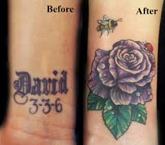 before and after cover up purpler with