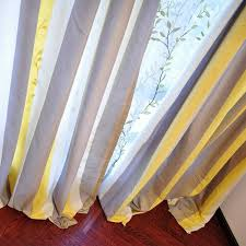 and coffee striped linen brief blackout curtains