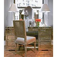 gidget hollywood regency silver mirrored desk kathy kuo home