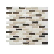 RV Mods Smart Tiles Self Adhesive Kitchen Tile Backsplash Mod - Peel and stick backsplash home depot
