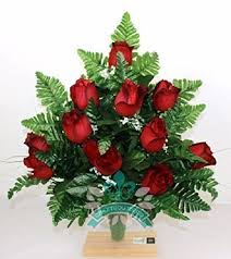 Flowers For Funeral Gorgeous Red Roses Cemetery Arrangement For Mausoleum Buy