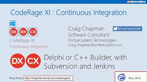 delphi mvvm tutorial continuous integration with svn jenkins and dunit delphi with
