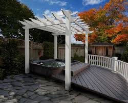 wpc material pergola many different specifications pool pavilion