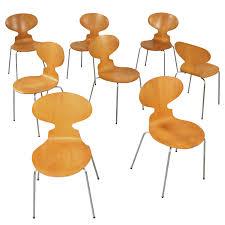 Jacobsen Chair Set Of 8 Matching Arne Jacobsen 3101 U0027ant U0027 Chairs Arne Jacobsen