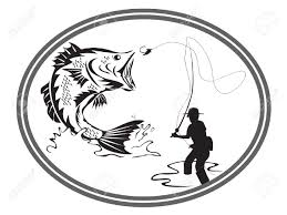 the design of fishing bass emblem royalty free cliparts vectors