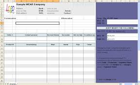 excel invoicing template download