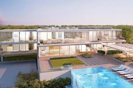 outside home theater 45m hamptons spec house is designed with transparent pool