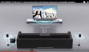 home theater systems with wireless rear speakers vizio sb3851 c0 38 inch 5 1 channel sound bar with wireless