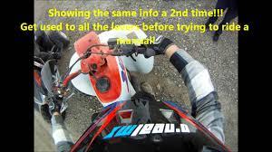 how to ride a manual quad or atv honda 250ex u0026 trx400ex shown