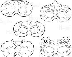 printable lizard mask template coloring masks etsy