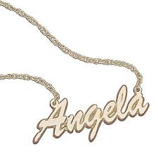 Name Chain 10k Gold Script Name Necklace 5823420 Hsn