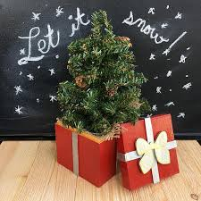 glossy gift box with holiday tree project by decoart