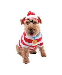 pet costumes where s waldo woof dog pet costume dog costumes for your pet