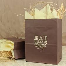 personalized wedding gift bags 8 x 10 eat drink and be married personalized gift bags set of 25