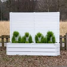 blumenkasten holz balkon pflanzkübel blumenkasten holz mit sichtschutz weiß deckend