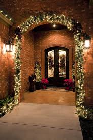 hanging christmas lights on brick walls door hanging decoration ideas porch traditional with exterior