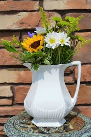large white ironstone pitcher collectible white pitcher