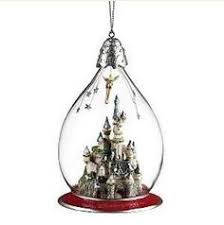 tinker bell enchanted castle glass bauble disneyland