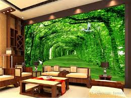 Sho Natur nature landscape green tree for living room wall decor photo