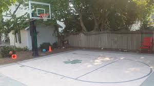 Outdoor Basketball Court Cost Estimate by Backyard Basketball Court Cost
