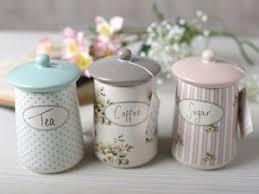 set of 3 katie alice cottage flower ceramic storage jars shabby