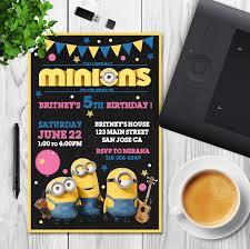 minion invitation minion birthday minion party minion birthday