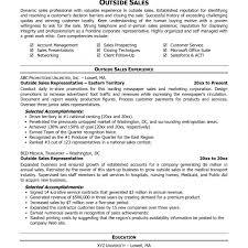 sales resume sles free inside sales resume exles technology throughout representative