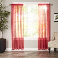 Sheer Maroon Curtains Maroon Sheer Curtains Wayfair